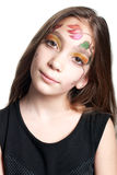 Mädchen mit gemaltem Gesicht Stockbilder