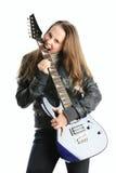 Mädchen mit Gitarre Lizenzfreies Stockbild