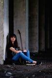 Mädchen mit Gitarre Lizenzfreie Stockbilder