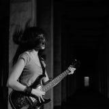 Mädchen mit Gitarre Stockfotografie