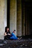 Mädchen mit Gitarre Lizenzfreies Stockfoto
