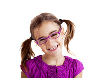 Mädchen mit Gläsern Lizenzfreies Stockbild