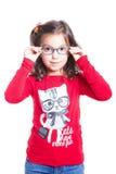 Mädchen mit Gläsern Stockbilder