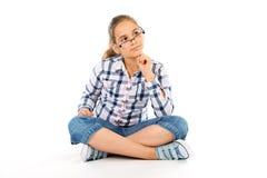 Mädchen mit Gläsern Stockfotos