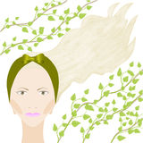 Mädchen mit grünem Stirnband Lizenzfreie Stockfotos