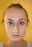 Mädchen mit große Augen Stockbilder