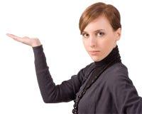 Mädchen mit Hand 02 Lizenzfreies Stockfoto