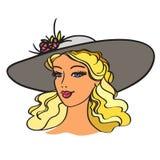 Mädchen mit Hut Stockfoto