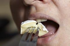 Mädchen mit Käse Lizenzfreie Stockfotos