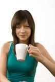 Mädchen mit Kaffee Lizenzfreie Stockfotos