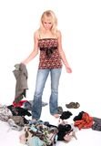 Mädchen mit Kleidung Lizenzfreie Stockbilder