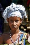 Mädchen mit Kopfschmuck in Djenne Lizenzfreies Stockfoto