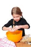Mädchen mit Kuchen Lizenzfreies Stockfoto