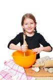 Mädchen mit Kuchen Lizenzfreie Stockfotografie