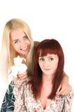 Mädchen mit Lilien lizenzfreie stockfotografie