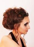 Mädchen mit Make-up stockbilder