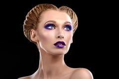 Mädchen mit Make-up Lizenzfreie Stockfotos