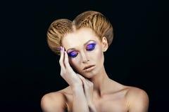 Mädchen mit Make-up Stockfoto