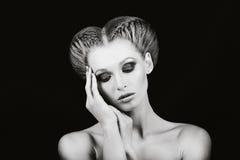 Mädchen mit Make-up Stockfotos