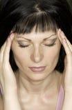 Mädchen mit Migräne Lizenzfreies Stockfoto