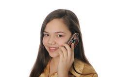 Mädchen mit Mobile Stockbilder