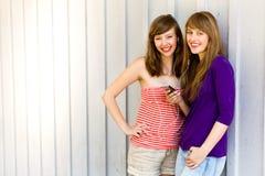 Mädchen mit MP3-Player Stockfoto