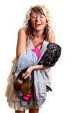 Mädchen mit neuer Kleidung Lizenzfreies Stockfoto