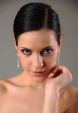 Mädchen mit Ohrringen Lizenzfreies Stockbild