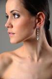 Mädchen mit Ohrringen Lizenzfreie Stockbilder