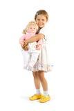 Mädchen mit Puppe Stockbilder