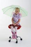 Mädchen mit Regenschirm Stockfotografie