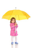 Mädchen mit Regenschirm Stockbild