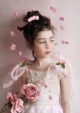 Mädchen mit Rose Lizenzfreie Stockfotos