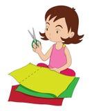 Mädchen mit Scheren Lizenzfreie Stockbilder