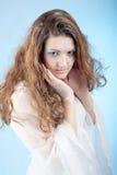Mädchen mit Schnemake-up lizenzfreies stockfoto