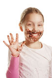 Mädchen mit Schokolade Lizenzfreie Stockfotografie