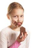 Mädchen mit Schokolade Lizenzfreie Stockbilder