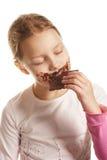Mädchen mit Schokolade Stockbild