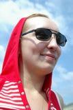 Mädchen mit schwarzen Gläsern Lizenzfreies Stockbild