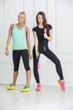 Mädchen mit Sportausrüstung Stockfotografie