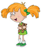 Mädchen mit Teddybären Lizenzfreies Stockfoto