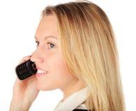 Mädchen mit Telefon Lizenzfreies Stockbild