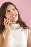 Mädchen mit Telefon Lizenzfreies Stockfoto