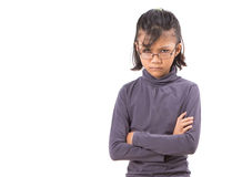 Mädchen mit verärgertem Gesichts-Ausdruck II Stockbilder