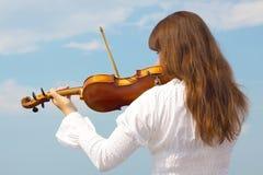 Mädchen mit Violine Lizenzfreies Stockbild