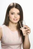 Mädchen mit Wasser Stockbild
