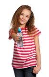 Mädchen mit Wasser Stockfotos