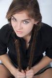 Mädchen mit Zöpfen Lizenzfreie Stockfotos