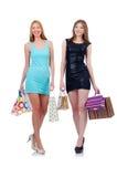 Mädchen nach dem guten Einkauf Lizenzfreie Stockfotografie