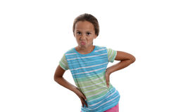 Mädchen nicht glücklich Stockfoto